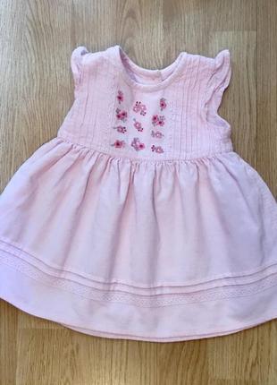 Красивое вельветовое платье для малышки george, размер 3-6 месяцев