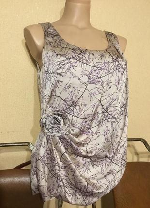Фирменная нарядная блуза майка h&m р.м-л