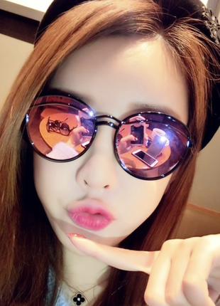 Солнцезащитные очки, окуляри,лисички, хамелеон, розовые