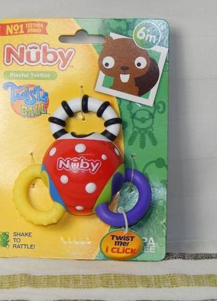Погремушка - трещотка фирмы nuby