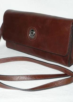 The original disser италия кожаная маленькая сумка клатч ручка через плечо кросбоди