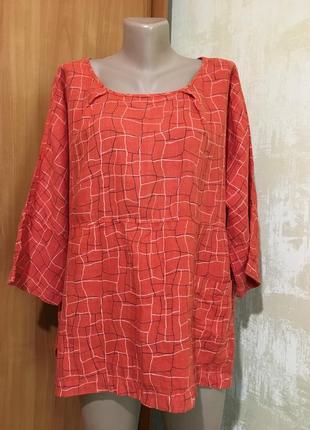 Льняная блуза,uno ,one size !!