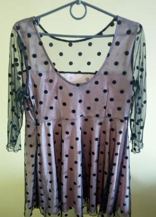 Black friday!  платье сетка нюд