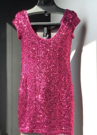 Платье розовое h&m