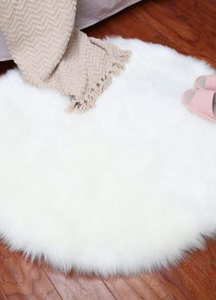 Шикарный меховый коврик круглый ikea большой,  фотофон , антискользящий