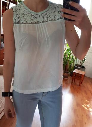 Блуза, блузка, рубашка, майка vila ажурная