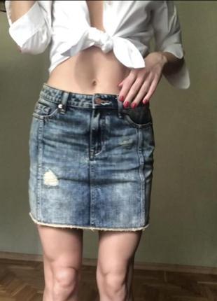 Новая джинсовая юбка варёнка armani exchange оригинал s