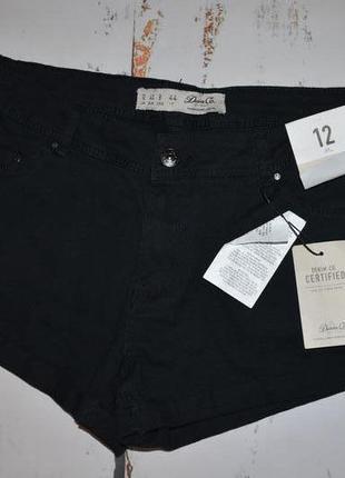 Черные джинсовые шорты denim 12 размер