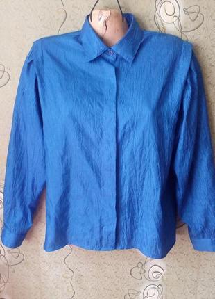 Винтажная блуза объёмный рукав.