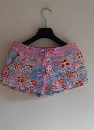 Летние шорты цветочный принт цветастые шорты