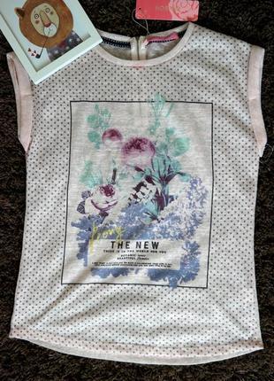 Женская футболка с принтом  , турция 36-38 рр свободный фасон