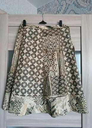 Новая актуальная юбка миди на запах хлопок