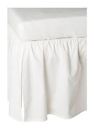 Ikea len оборка подзор для кроватки белый 60x120 см