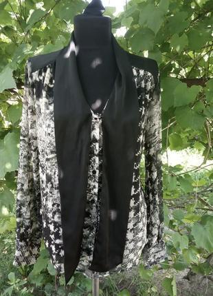 Красивая полупрозрачная блуза benetton