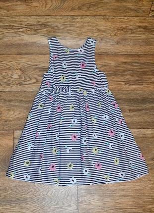 Лёгкое хлопковое платье 6-7 лет