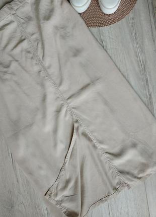 Бежевая длинная юбка прямая большой размер 264 фото