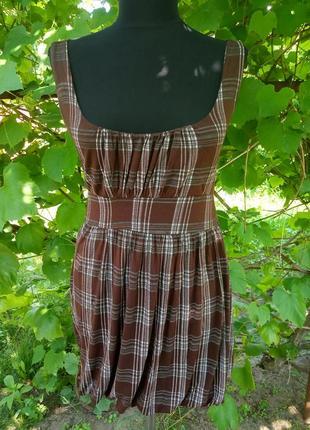Короткое платье туника в клетку