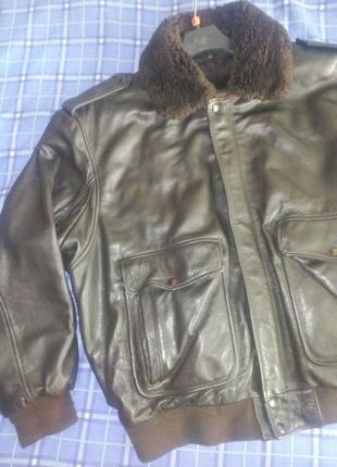 The pilot бомпер кожаная куртка пилот