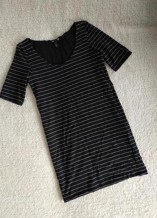 Базовое платье в полоску от h&m