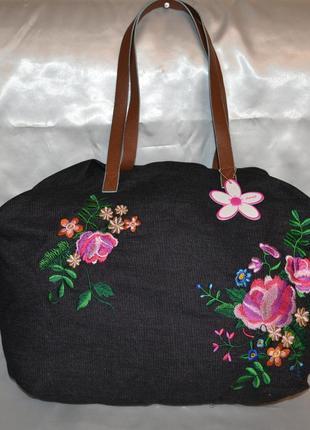 Красивая джинсовая сумка fabrizio1 фото
