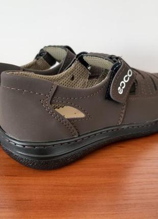 Мужские летние туфли коричневые6 фото