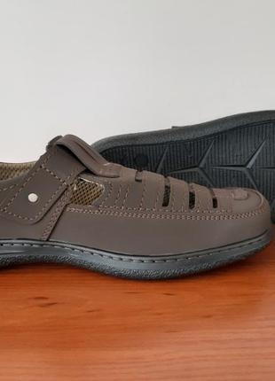 Мужские летние туфли коричневые5 фото