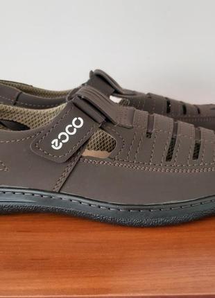 Мужские летние туфли коричневые3 фото