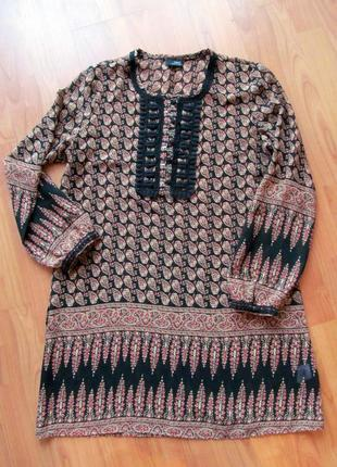 Легкая летняя блуза туника