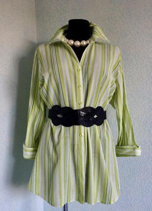 Длинная рубашка блузка туника try размер 18 наш 52-54-56 цена 199грн