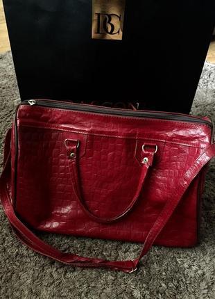 Большая красная сумка2 фото