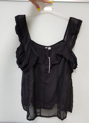Новая нарядная маечка, блуза  с кружевом asos