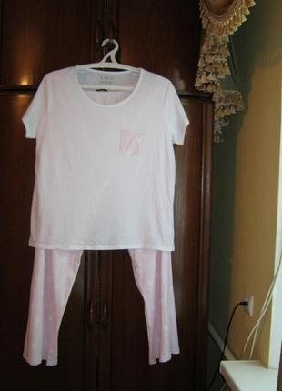 Пижама f&f, 100% хлопок, размер 20-22