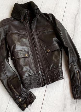 Якісна шкіряна куртка ,кожаная куртка,кожанка mango