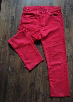 Супер яркие винтажные джинсы levis