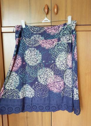 Трикотажная юбка с прошивом по низу размер 48-50