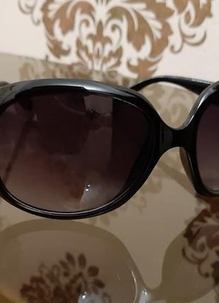 Большие очки классические чёрного цвета