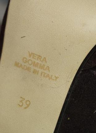 Evaluna. италия. замша. красивые базовые туфли на устойчивом каблуке4 фото