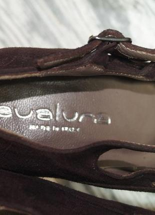 Evaluna. италия. замша. красивые базовые туфли на устойчивом каблуке3 фото