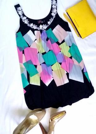 Милое яркое платье баллон
