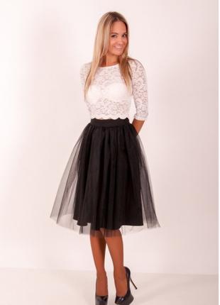 Фатиновая миди юбка универсальный размер!