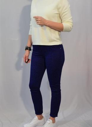 1229\70 синие джинсы с леопардовым принтом george s m