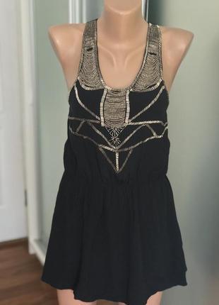 Нарядная блузка майка блага с бисером