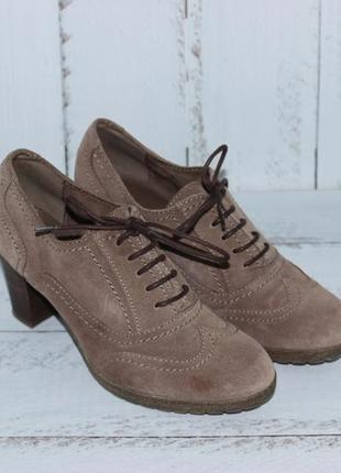 Замшевые туфли 5th avenue на удобном каблуке