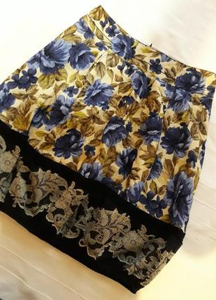 D'goism, новая фирменная летняя#яркая# юбка#спідниця в цветы#цветочный принт.