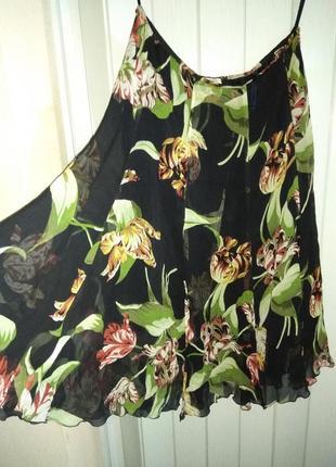 Бомбезная летняя яркая юбка из натурального шелка