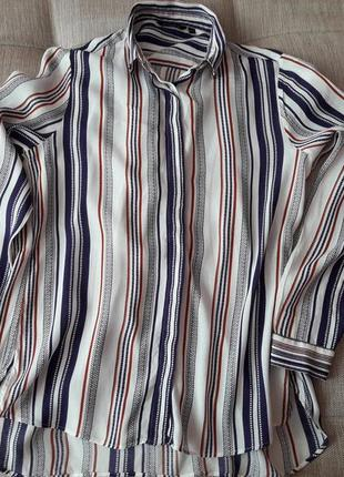 Блуза в полоску massimo dutti