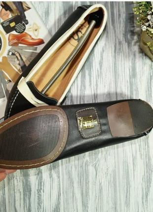 Si. кожа. фирменные туфли, мокасины на низком ходу5 фото