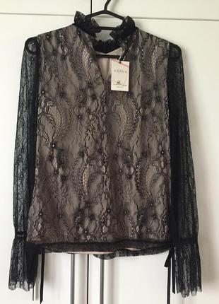 Оригинальная кружевная блуза4 фото