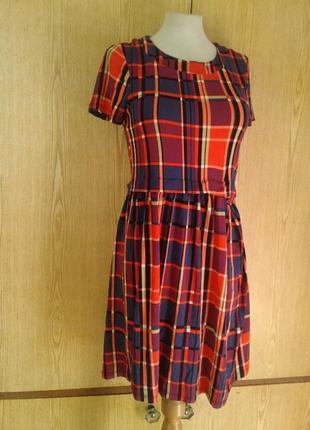 Вискозное яркое платье, xs-l.5 фото
