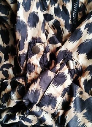 Летняя легкая ветровка оверсайз, леопардовый принт8 фото